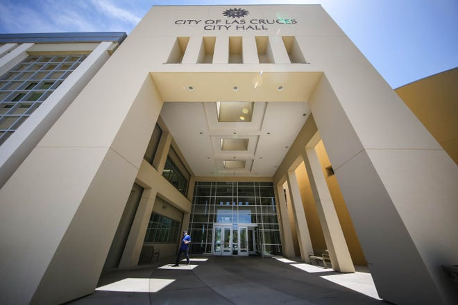 Las Cruces City Hall is pictured days after most staff returned to on-site work on Wednesday, May 5, 2021.