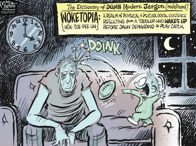 Marlette cartoon: Dumb modern jargon redefined