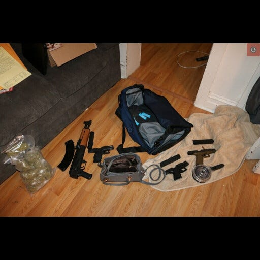 York City Police confiscated firearms, narcotics and arrested one person at the 900 block South Pine Street on Tuesday May 4, 2021.
