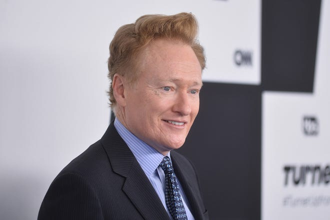 Conan O'Brien is photographed on May 17, 2017, at the Turner Upfront Presentation in New York. O'Brien is ending his late-night talk show on TBS next year to launch a new weekly series on HBO Max. (Erik Pendzich/Zuma Press/TNS)