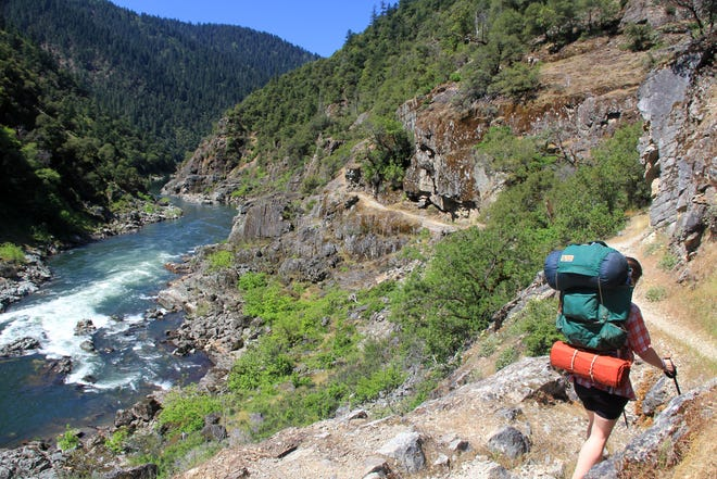 A hiker, not pictured here, died on the Rogue River Trail after a fall on Tuesday.