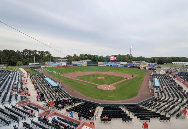 The Delmarva Shorebirds hosted the Salem Red Sox for opening day Tuesday, May 4, 2021, at Perdue Stadium in Salisbury, Maryland.