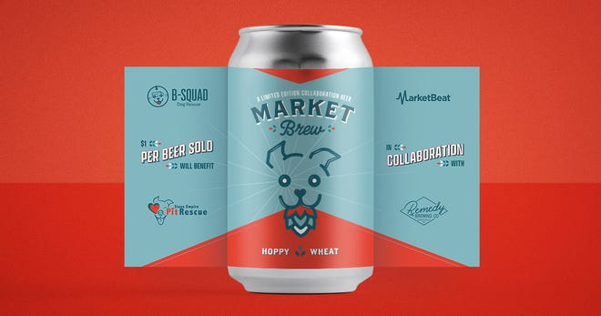 MarketBrew collaboration between MarketBeat, B-Squad Dog Rescue, Sioux Empire Pit Rescue and Remedy Brewing Co.
