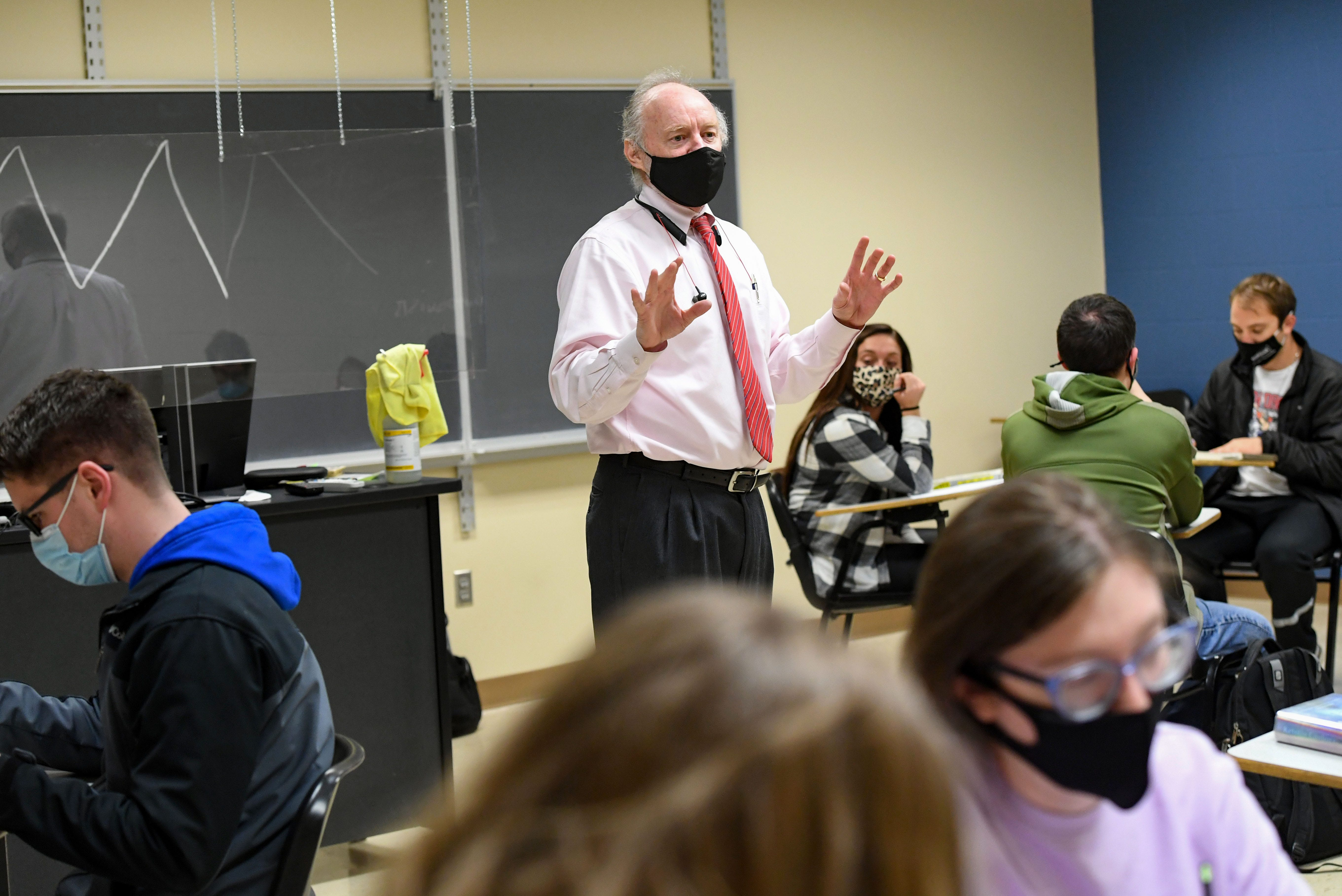 Michael Mullin, chair of Augustana's history department, in classroom