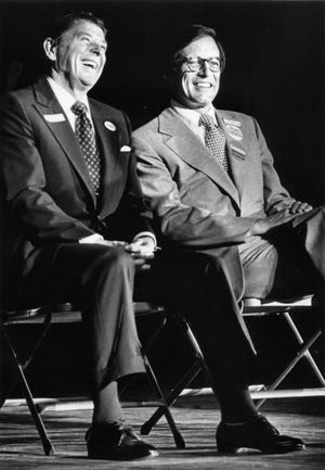 Ronald Reagan and Pete du Pont at The Grand in Wilmington, Del.  1978