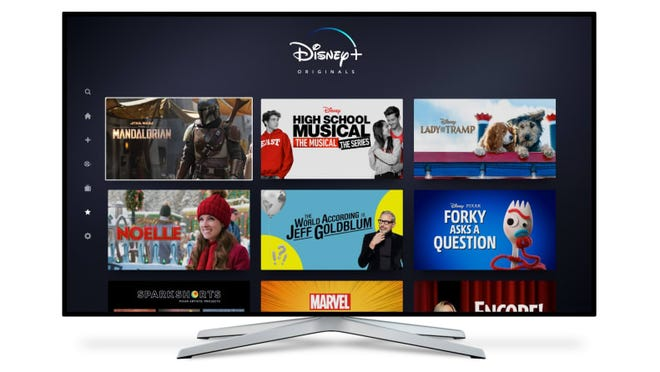 The Disney+ streaming service.