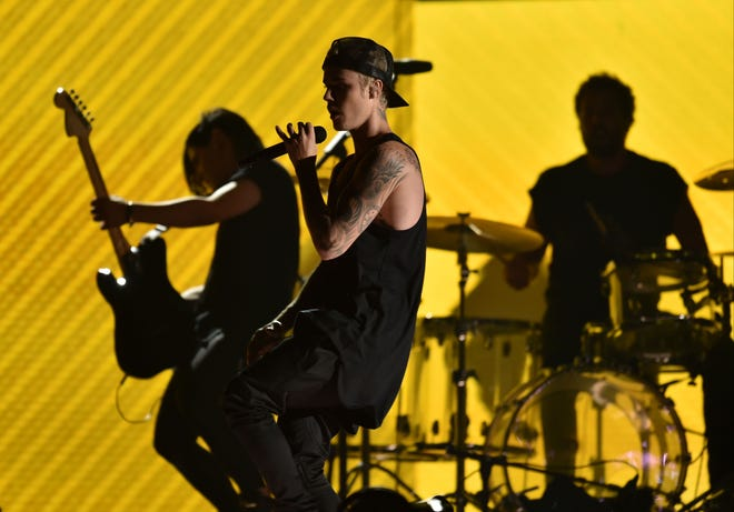Justin Bieber and Jack U perform during the 58th Grammy Awards at the Staples Center in 2016.