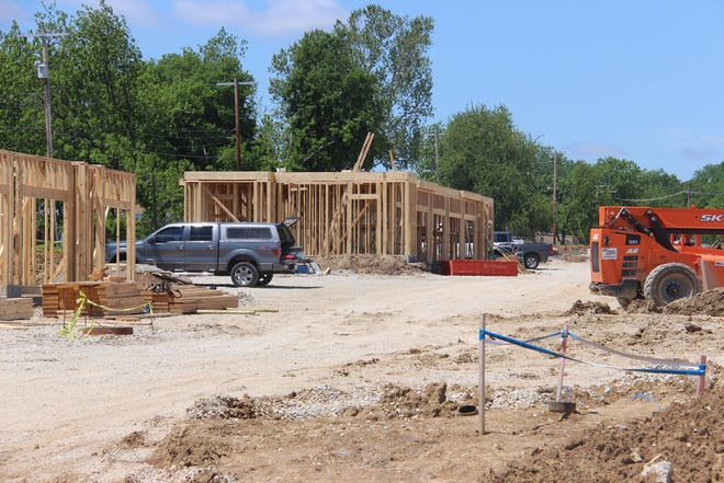 Workers have begun framing buildings at the upcoming Preserve Apartment Complex. According to Random Lengths, a wood products industry tracking firm, the cost of lumber in the United States has gone up 340% from a year ago.