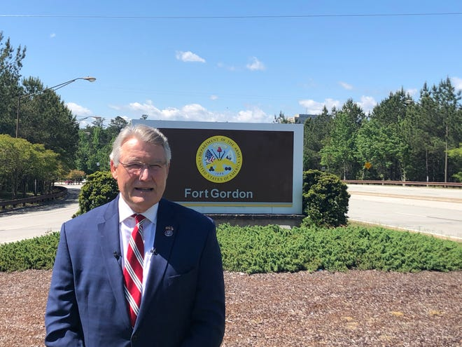 Rep. Rick Allen visited Fort Gordon Thursday to get an update on the Cyber Center of Excellence.