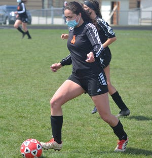 Sophomore midfielder Kenzie Burt and the Cheboygan varsity girls soccer team suffered a 4-0 loss at Marquette on Wednesday.