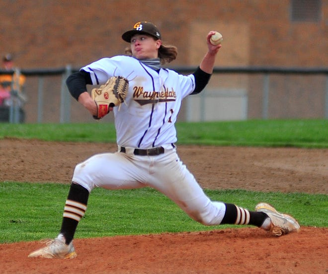Jaden Varner, pictured here from earlier in the season, struck out 17 batters against Wellington, bringing his postseason strikeout total to 36 over two games.