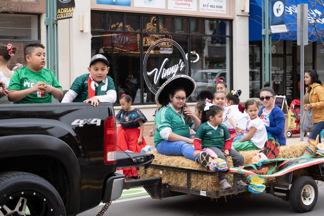 Children ride in Adrian's 2019 Cinco de Mayo parade. After being shelved last year because of the COVID-19 pandemic, the Cinco de Mayo parade and festival return on Saturday, May 8.