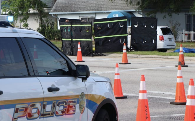 The scene in Holly Hill after a woman was fatally struck by a vehicle on Thursday, May 6, 2021. Her death is the eighth fatal accident involving a pedestrian. The next morning a man was hit and killed by a car in Orange City.