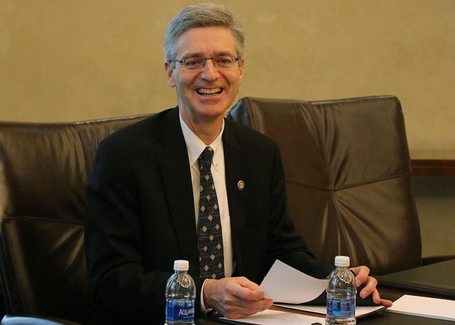 Embry-Riddle Aeronautical University President Barry Butler, shown in a file photo, testified Thursday remotely before the House Science, Space, and Technology Subcommittee on Research and Technology.