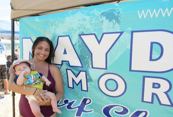 In 2019, Haley Watson, a new mom at the time, and son Mason host the the MayDay Memorial Surf Classic.