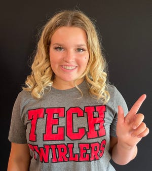 Laney Whitefield was named a Texas Tech Twirler on April 17.