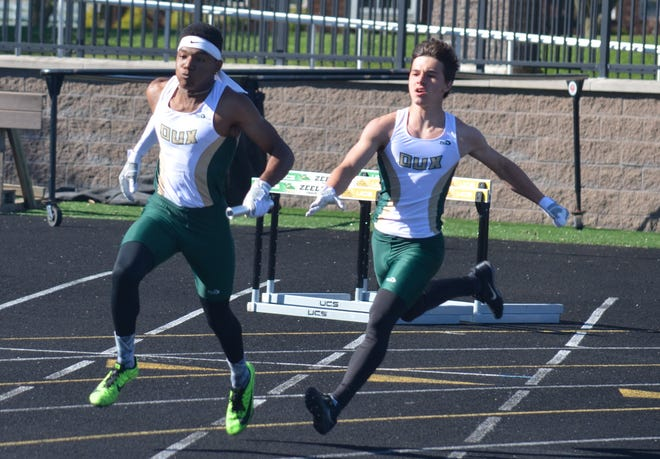 The Zeeland East and West boys and girls track and field teams had a rivalry showdown on Wednesday at Zeeland Stadium.