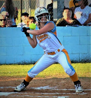 Evans' sophomore Riley Haus was one of five Lady Eagles named first-team all-district by the coaches of District 3-C.