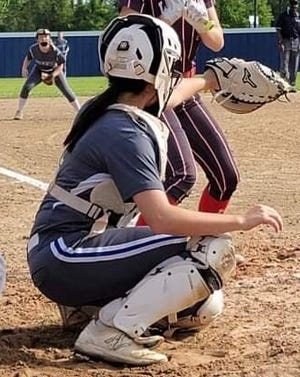 Pitkin senior catcher Lauryn Longino was one of four Lady Tigers named first-team all-district by the coaches of 5-B.