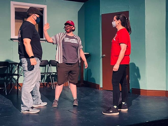"""The cast of the Embassy Theatre's  """"One Flew Over the Cuckoo's Nest"""" rehearses for the May 14 opening."""