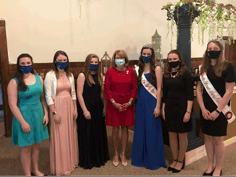 State Sen. Pam Helming, R-54th District, attends the Wayne County Dairy Princess pageant. Pictured, from left, Madelaine Kemp, ambassador; Kailey Vernon, alternate princess; 2021-22 Dairy Princess Gabriella Taylor; Helming; Kailey Kuhn, alternate princess and 2020-21 Wayne County dairy princess; Natalie Vernon, 2020-21 New York State dairy princess; and Elizabeth Hyman, NYS second alternate princess.