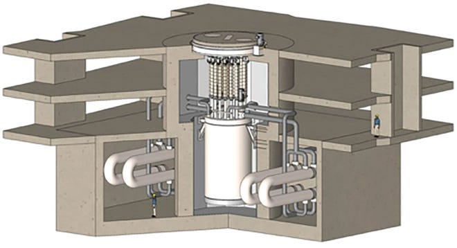 This rendering shows the demonstration reactor planned for the East Tennessee Technology Park,