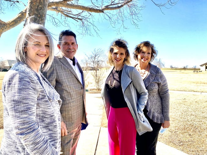 NorthCare Family Treatment Center leaders LaCinda Daugherty, Randy Tate, Tonya Ratliffe and Lisa Buck stand at the Fields of Hope complex in Piedmont where NorthCare has found a permanent home.