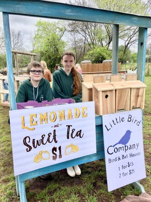 Ryan Eng-Smith and his sister, Jenna Doolen, are youthful vendors at the Arcadia Farmers Market. The market opens for the summer season on May 15.