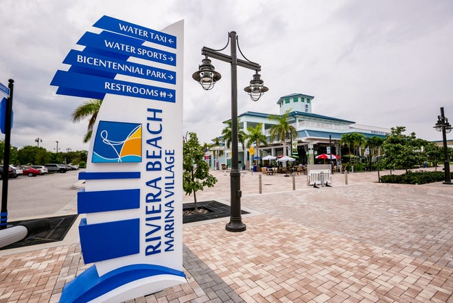 The marina event center inside Riviera Beach Marina Village.