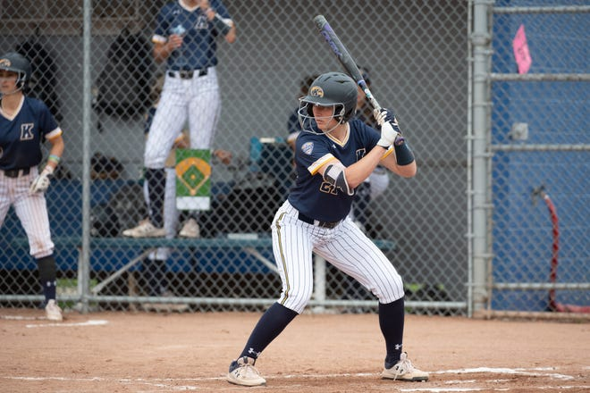Kaitlyn Miller has hit a career-high four homers as a senior at Kent State this spring despite missing several games due to a hand injury.