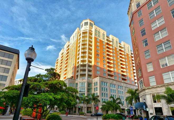 A seventh floor condominium at the fashionable 1350 Main Street is on the market for $750,000.