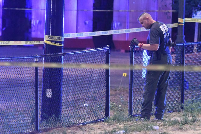 The shooting happened around 7 p.m. at Long Leaf Park, but no injuries or deaths were reported.