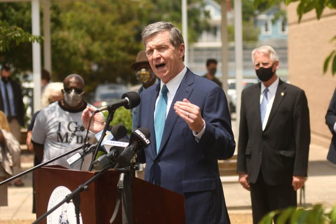North Carolina Gov. Roy Cooper vetoed gun-rights legislation on Friday that would allow parishioners at more churches to be armed, marking the second year in a row that he's blocked the idea.