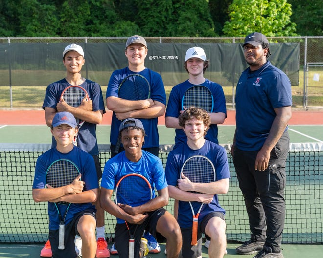 The Terry Sanford boys' tennis team completed an unbeaten run through the Patriot 4-A/3-A Conference to claim the league title.