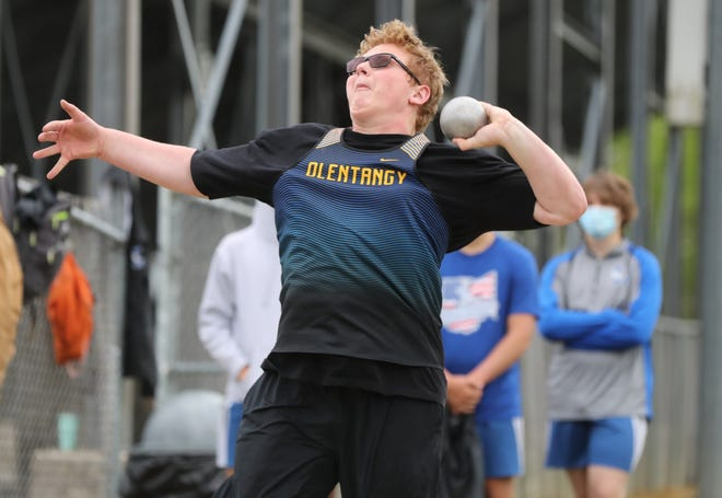 Olentangy junior Reilly Worthington is aiming to reach his first Division I state meet. He won both throwing events in the Freedom Relays on April 23 at Liberty and the Olentangy Invitational on April 30.