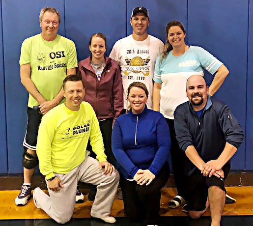 The Whiffers won the recreational division in the 2021 Watertown Park and Rec Wiffleball League. Team members include, from left in front, Shane Hoffman, Stacey Hemiller and Spencer Sheehan; and back, Maloy Loof, Shayla Engen, Kraig Engen and Julie McGill. Not pictured are Bryce Hemiller and Cameron Hoppe.