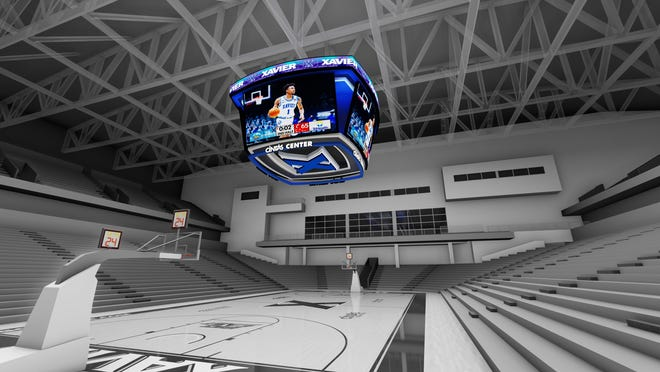 Rendering of the new scoreboard at the Cintas Center.