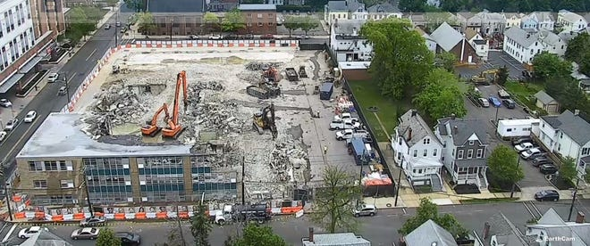Lincoln Annex School is being demolished and a new school is being constructed on Jersey Avenue in New Brunswick.