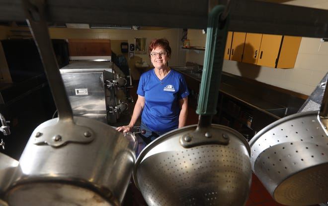 Carol Wears prepares 180 meals a day at the Coshocton County Career Center.  She has been cooking for students for 27 years.