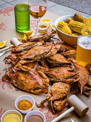 You can order Blue crabs from Hazel's Eastern Shore menu at Hazel Ravines & Downtown in Birmingham.
