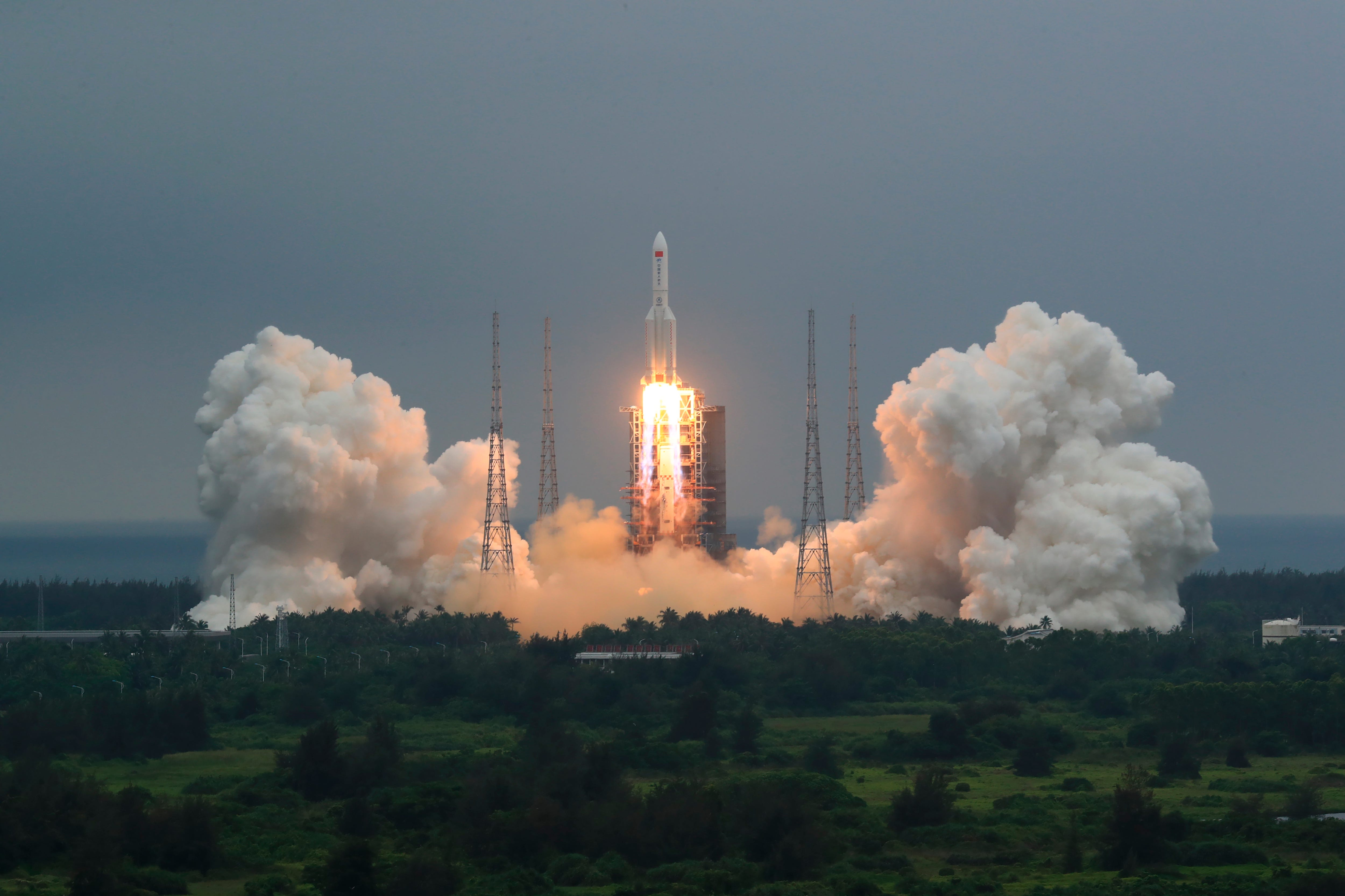 China discounts possibility of harm from falling rocket 1