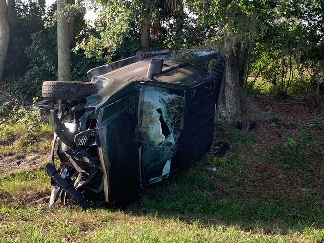 Two suspects in a truck that investigators said was just stolen crashed head-on into a car on 23rd Street SW in Lehigh Acres Thursday sending three people to the hospital.