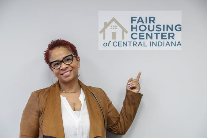 Homeowner Carlette Duffy is photographed at the Fair Housing Center of Central Indiana on Thursday, May 6, 2021.