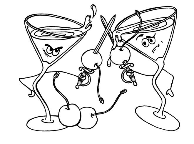 """""""Cocktail Dive Bar"""" by T. Cole Newton is filled with whimsical illustrations. (Courtesy Running Press)"""