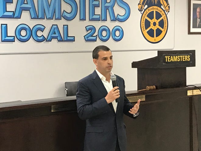 Democratic candidate Alex Lasry received the Wisconsin Teamsters endorsement for U.S. Senate Thursday, May 6, 2021.