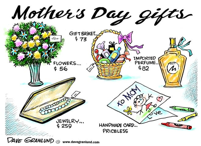 Gift ideas for Mother's Day.