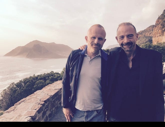 Timothy Ray Brown (right) with his life partner Tim Hoeffgen (left).