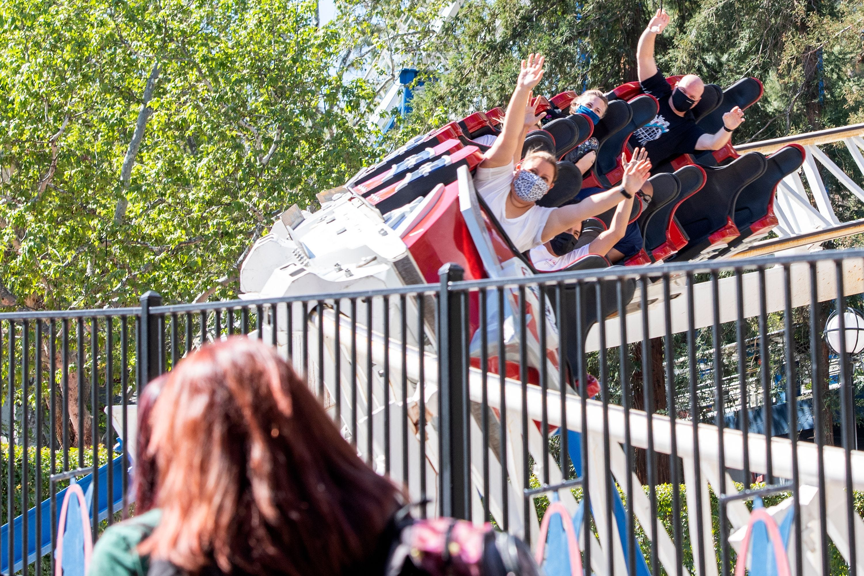 There are over 100 rides and activities to sink your teeth into at Six Flags America in Maryland.