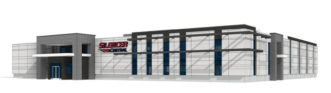 Silencer Central headquarters rendering.