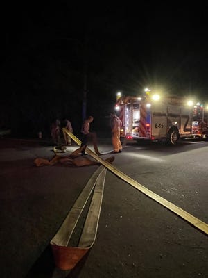 Tallahassee Fire Department at a deadly house fire Thursday morning